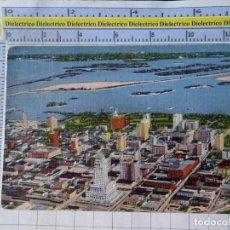 Postales: POSTAL DE ESTADOS UNIDOS. AÑO 1938 MIAMI BUSINESS SECTION LOOKING ACROSS BISCAYNE BAY FLORIDA. 1818. Lote 187458678