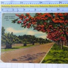 Postales: POSTAL DE ESTADOS UNIDOS. AÑO 1940. MIAMI JUNE IN SOUTH FLORIDA. 1820. Lote 187458745