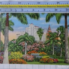 Postales: POSTAL DE ESTADOS UNIDOS. AÑO 1938. MIAMI FLORIDA HOTEL ROW FROM BAYFRONT PARK. 1821. Lote 187458770