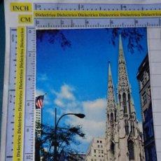 Postales: POSTAL DE ESTADOS UNIDOS. AÑOS 50 70. NEW YORK NUEVA YORK WORLD ST PATRICK'S CATHEDRAL. 1826. Lote 187458971