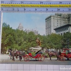 Postales: POSTAL DE ESTADOS UNIDOS. AÑOS 50 70. NEW YORK NUEVA YORK WORLD CARRUAJES EN LA 59TH STREET 1830. Lote 187459061