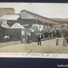 Postales: NO. 3 - PEQUEÑO MERCADO - PUEBLA MEX - MEXICO - GRAY'S - FECHADA 1909. Lote 188639935