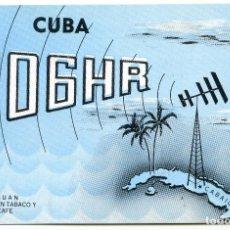 Postales: CUBA. TARJETA POSTAL QSL DE UN RADIOAFICIONADO DE CABAIGUAN, AÑOS 50. SIN USAR. Lote 189210950