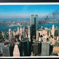 Postales: USA, NUEVA YORK, POSTAL DEL DISTRITO FINANCIERO Y RIO HUDSON. Lote 189921501