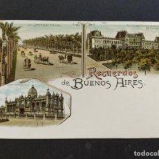 Postales: ARGENTINA-RECUERDOS DE BUENOS AIRES-VARIAS VISTAS-REVERSO SIN DIVIDIR-POSTAL ANTIGUA-(65.949). Lote 190291675