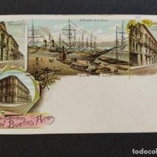 Postales: ARGENTINA-RECUERDOS DE BUENOS AIRES-VARIAS VISTAS-REVERSO SIN DIVIDIR-POSTAL ANTIGUA-(65.950). Lote 190291736