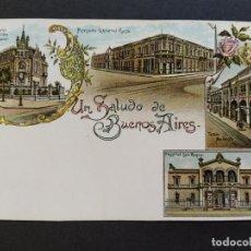 Postales: ARGENTINA-RECUERDOS DE BUENOS AIRES-VARIAS VISTAS-REVERSO SIN DIVIDIR-POSTAL ANTIGUA-(65.951). Lote 190291750