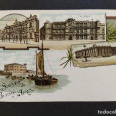 Postales: ARGENTINA-RECUERDOS DE BUENOS AIRES-VARIAS VISTAS-REVERSO SIN DIVIDIR-POSTAL ANTIGUA-(65.953). Lote 190291780