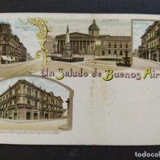 Postales: ARGENTINA-RECUERDOS DE BUENOS AIRES-VARIAS VISTAS-REVERSO SIN DIVIDIR-POSTAL ANTIGUA-(65.954). Lote 190291812