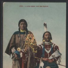 Postales: U.S.A. *A UTE CHIEF AND HIS SQUAW* PUB. EDWARD H. MITCHELL Nº 1532. NUEVA.. Lote 108909227