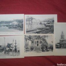 Postales: LOTE 5 POSTALES CARIBE AMÉRICA SAINT PIERRE DE LA MARTINIQUE MARTINICA. Lote 191360677