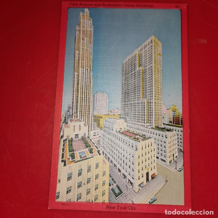 Postales: Lote 11 postales de Nueva York año 1950 sin circular Muy buen estado - Foto 7 - 192225127