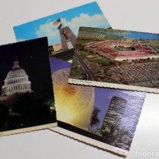 Postales: LOTE DE 4 POSTALES ANTIGUAS DE EE UU - NUEVAS SIN CIRCULAR - AÑOS 70. Lote 192260302