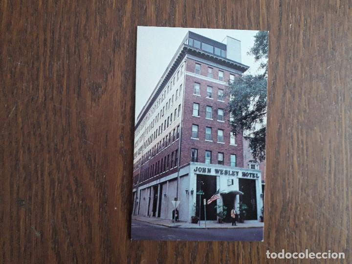 POSTAL DE PUBLICIDAD, HOTEL JOHN WESLEY. USA (Postales - Postales Extranjero - América)