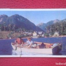 Postales: POSTAL POST CARD PANAGRA SKY PAN AMERICAN-GRACE AIRWAYS PESCA EN REGIÓN DE LOS LAGOS CHILENOS CHILE. Lote 193708378