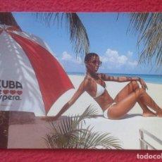 Postales: POSTAL ERÓTICA EROTIC EROTIQUE FEMME WOMAN GIRL MUJER CHICA CUBA TE ESPERA AWAITS YOU MULATA MULATTA. Lote 194198193