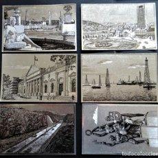 Postales: LOTE DE 6 POSTALES DE VENEZUELA, DE COLOR DORADO , SIN CIRCULAR, VER FOTOS. Lote 194224416