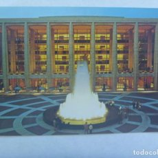 Postales: POSTAL DE NUEVA YORK ( ESTADOS UNIDOS ): LINCOLN CENTER FOR THE PERFORMING ARTS AVERY FISHER HALL. Lote 194256512