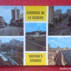Postales: POSTAL POST CARD CARIBE CUBA AVENIDAS DE LA HABANA HAVANA'S AVENUES RAMPA CALLE LÍNEA S. ALLENDE..... Lote 194261927