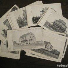 Postales: ESTADOS UNIDOS-NEW YORK-LAURELTON-LOTE DE 18 POSTALES DE CASAS AMERICANAS-VER FOTOS-(67.706). Lote 194327913