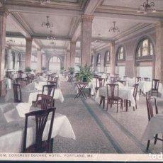 Postales: POSTAL PORTLAND - DINING ROOM - CONGRESS SQUARE HOTEL - 70290. Lote 194387528