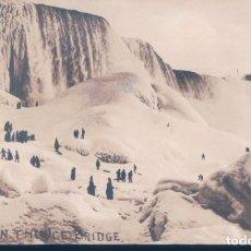 Postales: POSTAL FOTOGRAFICA CANADA - ON THE ICE BRIDGE 103 - CHUTES DU NIAGARA. Lote 194758128