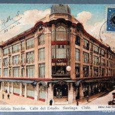 Postales: POSTAL SANTIAGO CHILE GALERÍA EDIFICIO BEECHE CALLE ESTADO EDITOR JUAN TAMARGO CIRCULADA SELLO 1912. Lote 207099742