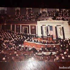 Postales: Nº 36369 POSTAL ESTADOS UNIDOS CONGRESS IN SESSION WASHINGTON D C . Lote 195335133
