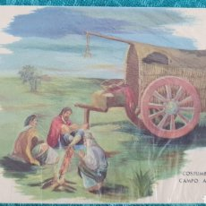 Postales: ANTIGUA POSTAL ARGENTINA. AÑOS 50. COSTUMBRES DEL CAMPO ARGENTINO. SIN CIRCULAR. Lote 195509570