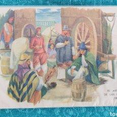 Postales: ANTIGUA POSTAL ARGENTINA. AÑOS 50.EL MERCADO DE LAS CARRETAS (1840). SIN CIRCULAR. Lote 195510097