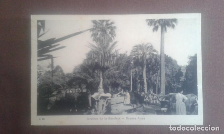 ANTIGUA POSTAL BUENOS AIRES. JARDINES DE LA RECOLETA. A26. PEUSER. (Postales - Postales Extranjero - América)