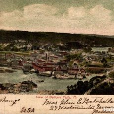 Postales: VIEW OF BELLOWS FALLS. VT. Lote 196138535