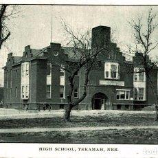 Postales: TEKAMAH. NEB. HIGH SCHOOL. Lote 196138560