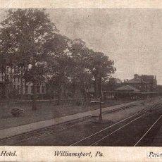 Postales: PARK HOTEL & PENN STATION, WILLIAMSPORT PA. Lote 196138600