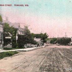 Postales: PEWAUKEE. MAIN STREET. Lote 196138645