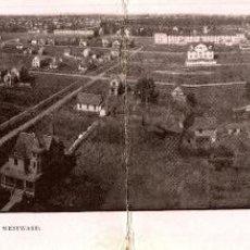 Postales: ZION CITY BIRDSEYE VIEW LOOKING WESTWARD. - DOUBLE POSTCARD. Lote 196138667