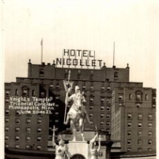Postales: MINNEAPOLIS. MINN. HOTEL NICOLLET. KNGHTS TEMPLAR TRIENNIAL CONCLAVE JUNE 20 TO 22. Lote 196138685