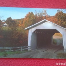 Postales: POSTAL ESTADOS UNIDOS USA UNITED STATES BRIDGE PONT PUENTE HECTORSVILLE MONTGOMERY CENTER VERMONT. Lote 197113222