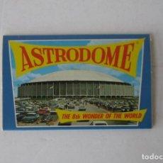Postales: BLOC VISTAS DEL ESTADIO ASTRODOME, HOUSTON TEXAS. Lote 197268018