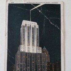 Postales: PALMOLIVE BUILDING CHICAGO USA POSTAL 1929. Lote 197434166