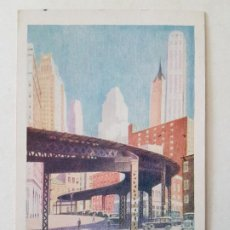 Postales: NUEVA YORK USA POSTAL ILUSTRADA 1941 CON SELLO CENSURA AL DORSO. Lote 197434543