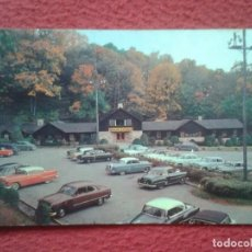 Postales: POSTAL POSTCARD ENTRANCE LODGE AND PARKING AREA SKYLINE CAVERNS FRONT ROYAL VIRGINIA COCHES CARS USA. Lote 197558748