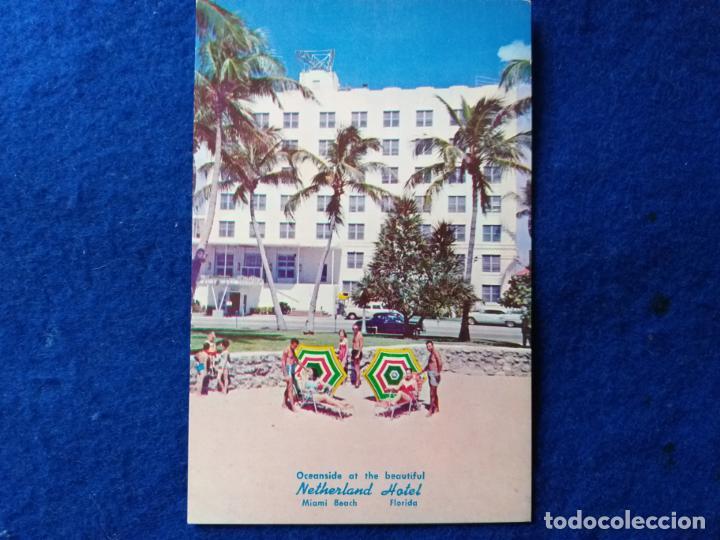 POSTAL ANTIGUA. NETHERLAND HOTEL. MIAMI BEACH. FLORIDA (Postales - Postales Extranjero - América)
