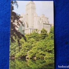 Postales: POSTAL ANTIGUA. BARBIZON PLAZA HOTEL. NUEVA YORK. CENTRAL PARK. Lote 198219002