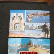 Postales: MONTEVIDEO, PUNTA DEL ESTE, URUGUAY, CIRCULADAS. Lote 198470513