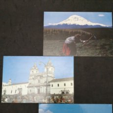 Postales: ECUADOR, TRES BONITAS POSTALES. Lote 198474145