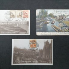 Postales: MÉXICO, LOTE DE 3 POSTALES AÑOS 30 Y 1907 (CON FALLO PICO). Lote 198480056