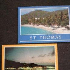 Postales: ST. THOMAS 2 POSTALES SIN CIRCULAR. Lote 198623020