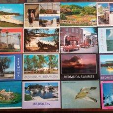 Postales: BERMUDA LOTE DE 31 POSTALES. Lote 198624160