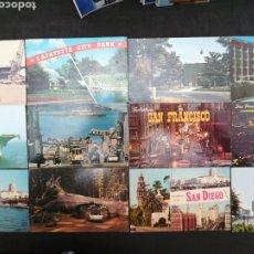 Postales: ESTADOS UNIDOS, LOTE DE 12 POSTALES DIFERENTES. Lote 199269305